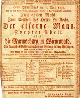 Theaterzettel vom 1. April 1802
