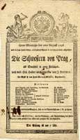 Theaterzettel vom 1. August 1796